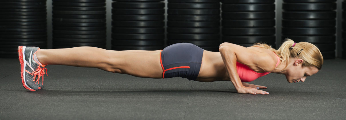 female pushup image