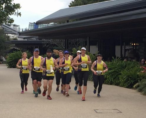 Our run club in action