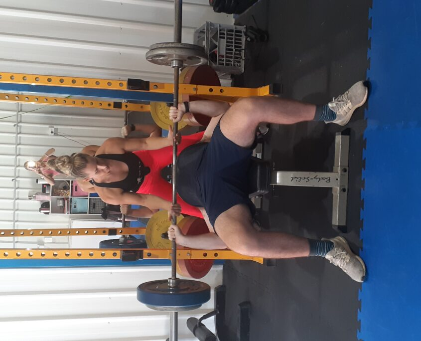 Strength training at Achieving You in Kedron
