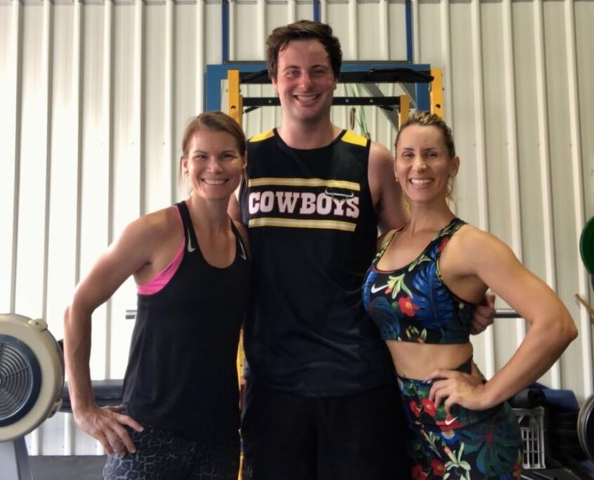 Working out at Achieving You fitness centre