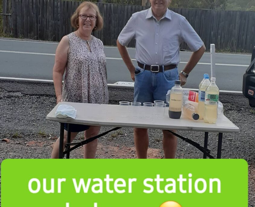 Our water station helps at Achieving You, a Kedron Gym